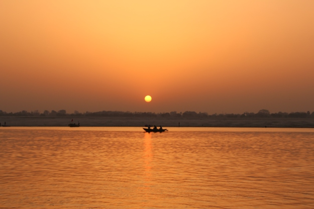 Sunrise on the Ganges River, Varanasi, India