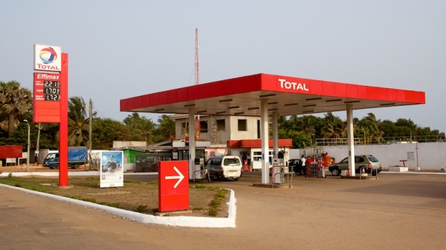 A gas station in Ghana