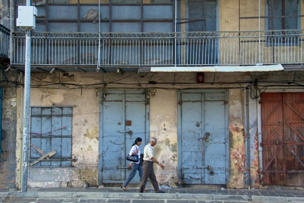 Two walkers - Port Louis, Mauritius