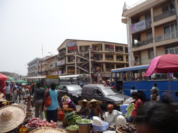 A local market in Accra, Ghana