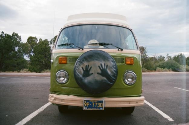 VW van in a National Park