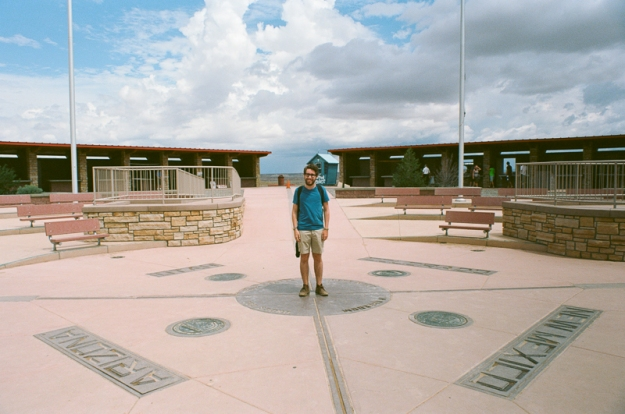 Adam standing in 4 (!) states - Four Corners, USA