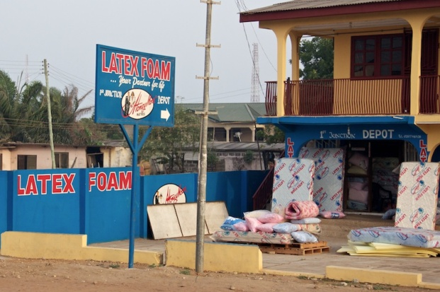 Latex foam store - Accra, Ghana